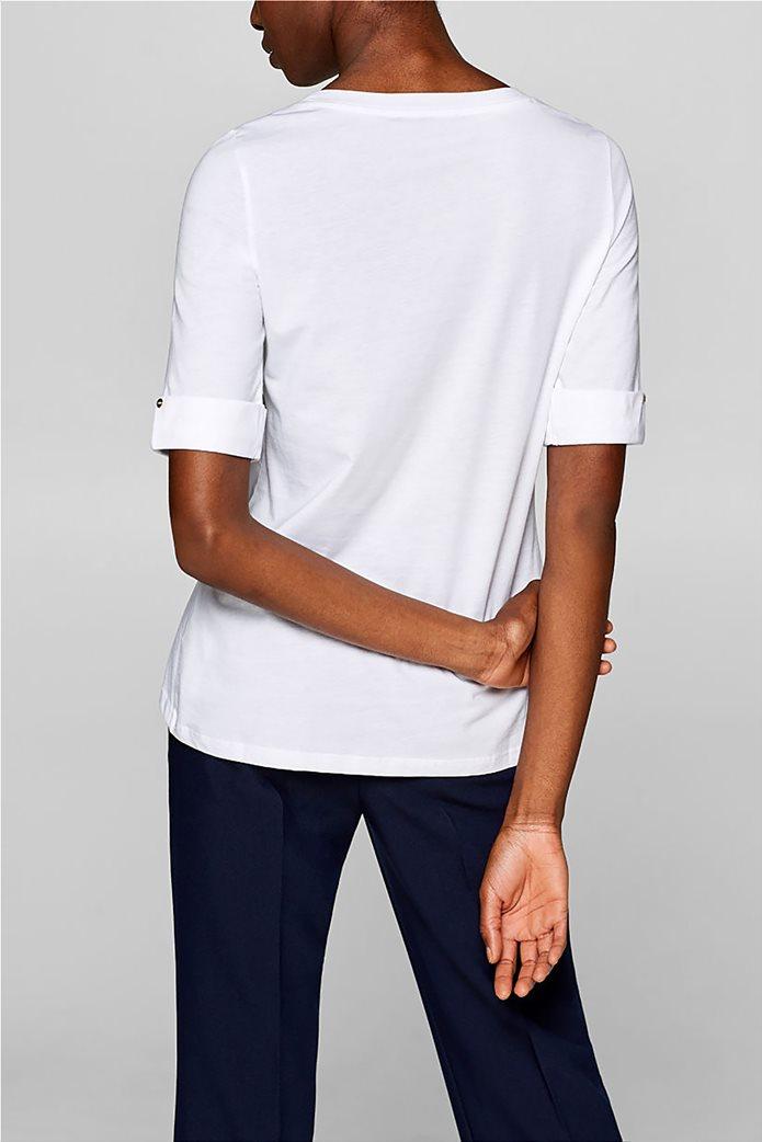Esprit γυναικεία μπλούζα με κουμπιά στα μανίκια 3