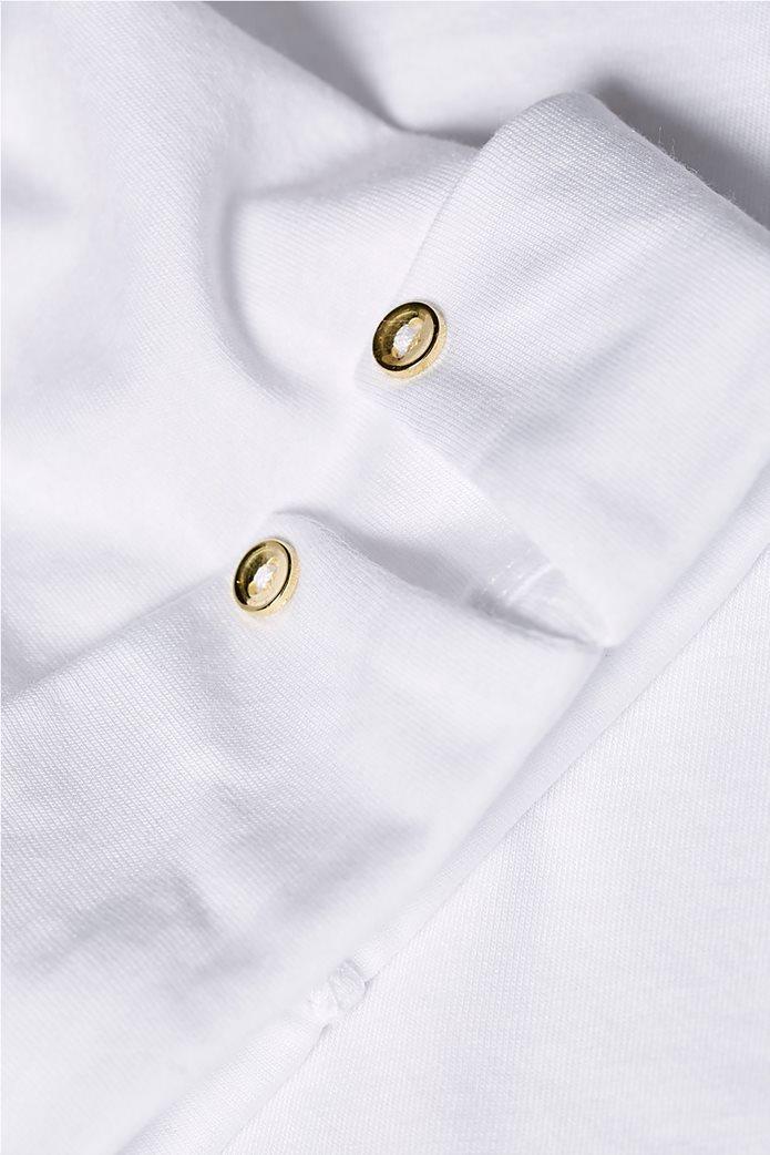 Esprit γυναικεία μπλούζα με κουμπιά στα μανίκια 4