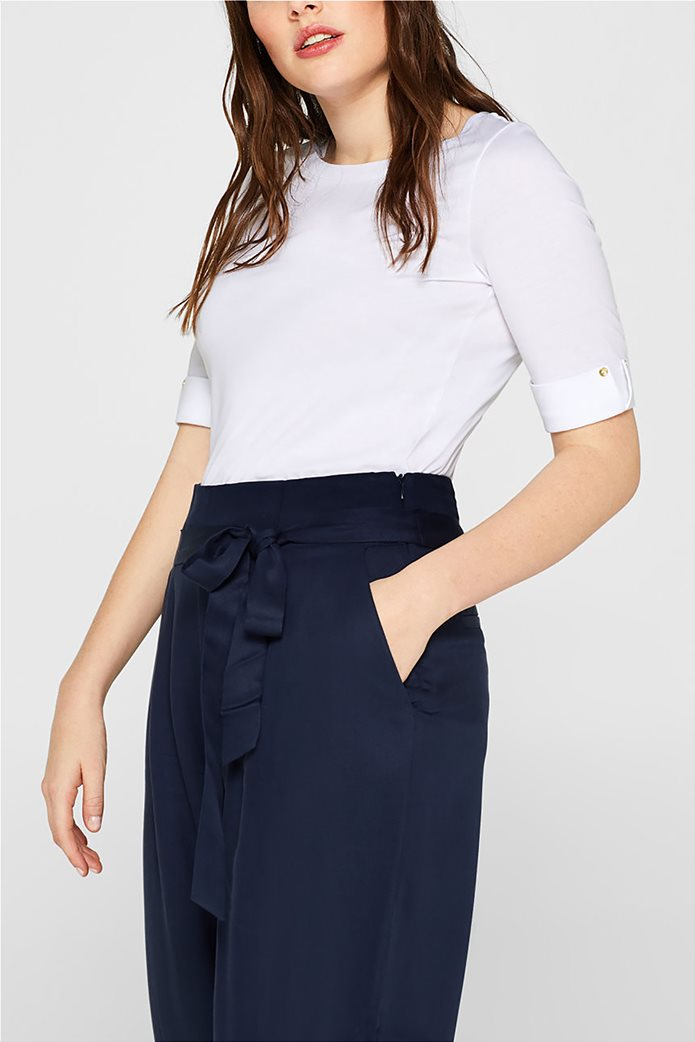 Esprit γυναικεία μπλούζα με κουμπιά στα μανίκια 5
