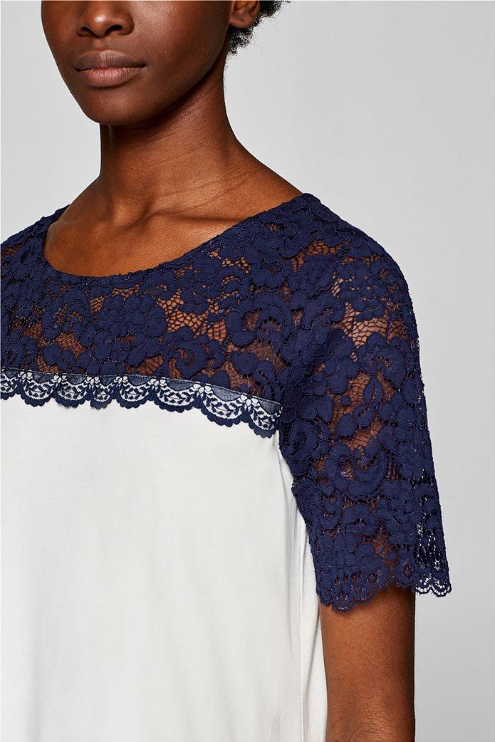 Esprit γυναικεία μπλούζα με δαντέλα 2