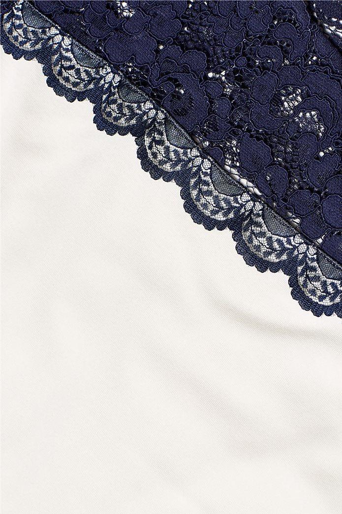 Esprit γυναικεία μπλούζα με δαντέλα 4