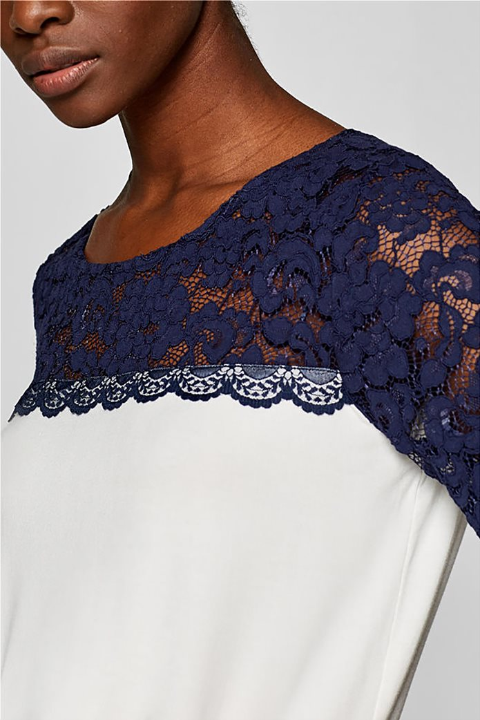 Esprit γυναικεία μπλούζα με δαντέλα 5