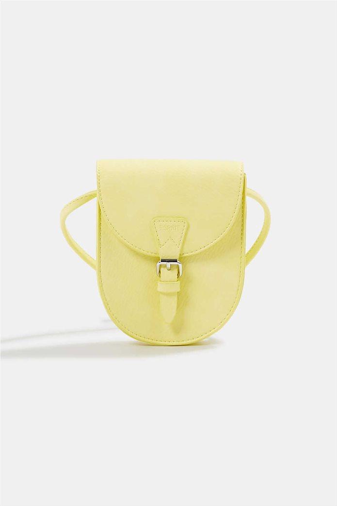 Esprit γυναικεία τσάντα crossbody με flap κλείσιμο και μεταλλική αγκράφα 0