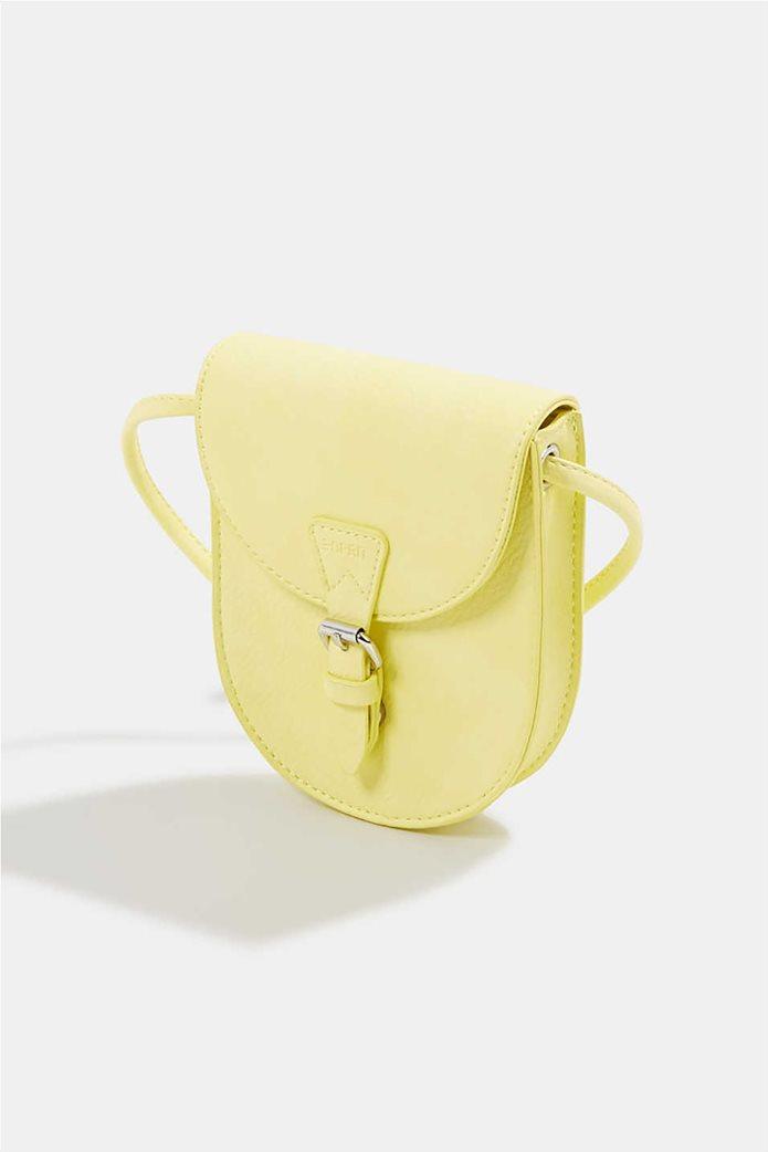 Esprit γυναικεία τσάντα crossbody με flap κλείσιμο και μεταλλική αγκράφα 2