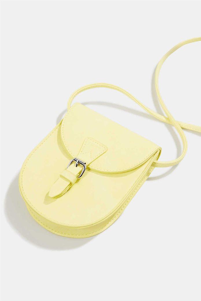 Esprit γυναικεία τσάντα crossbody με flap κλείσιμο και μεταλλική αγκράφα 3