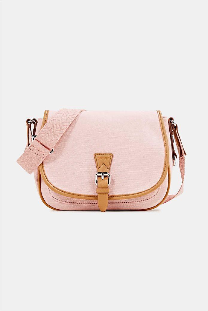 Esprit γυναικεία τσάντα crossbody με flap κλείσιμο 0