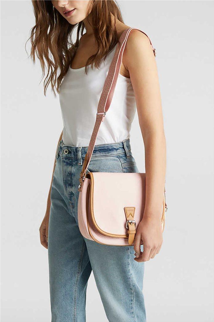 Esprit γυναικεία τσάντα crossbody με flap κλείσιμο 1