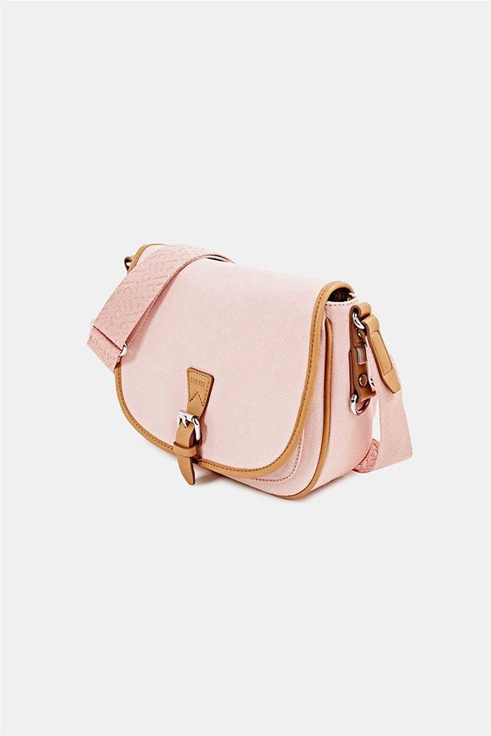 Esprit γυναικεία τσάντα crossbody με flap κλείσιμο 2