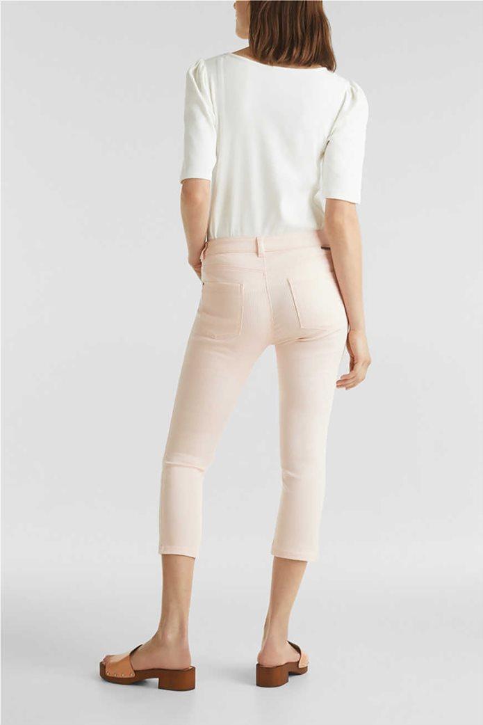 Esprit γυναικείο παντελόνι capri με λεπτές ρίγες skinny 2