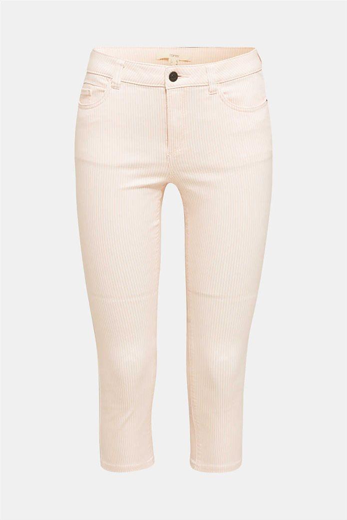 Esprit γυναικείο παντελόνι capri με λεπτές ρίγες skinny 3
