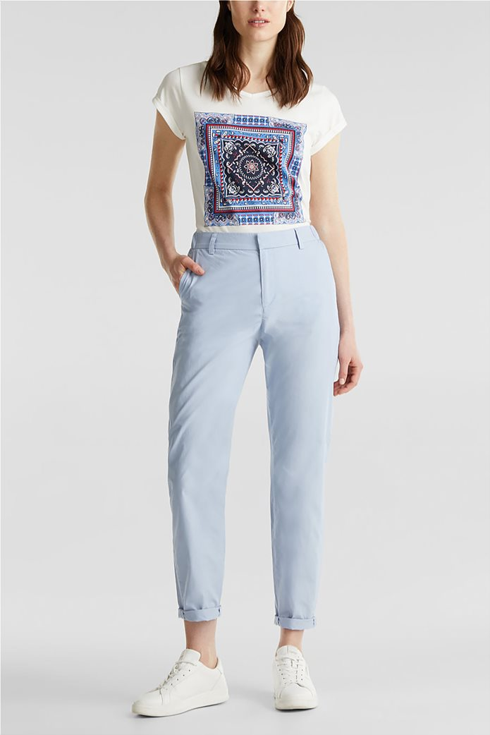 Esprit γυναικείο παντελόνι chino cropped 0
