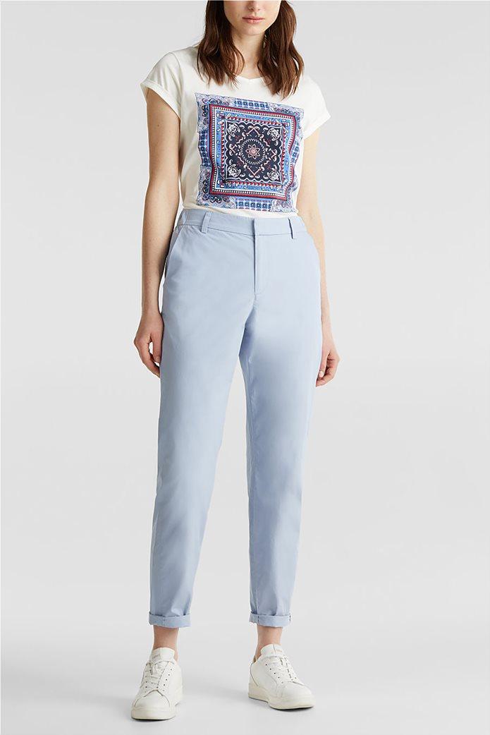 Esprit γυναικείο παντελόνι chino cropped 1