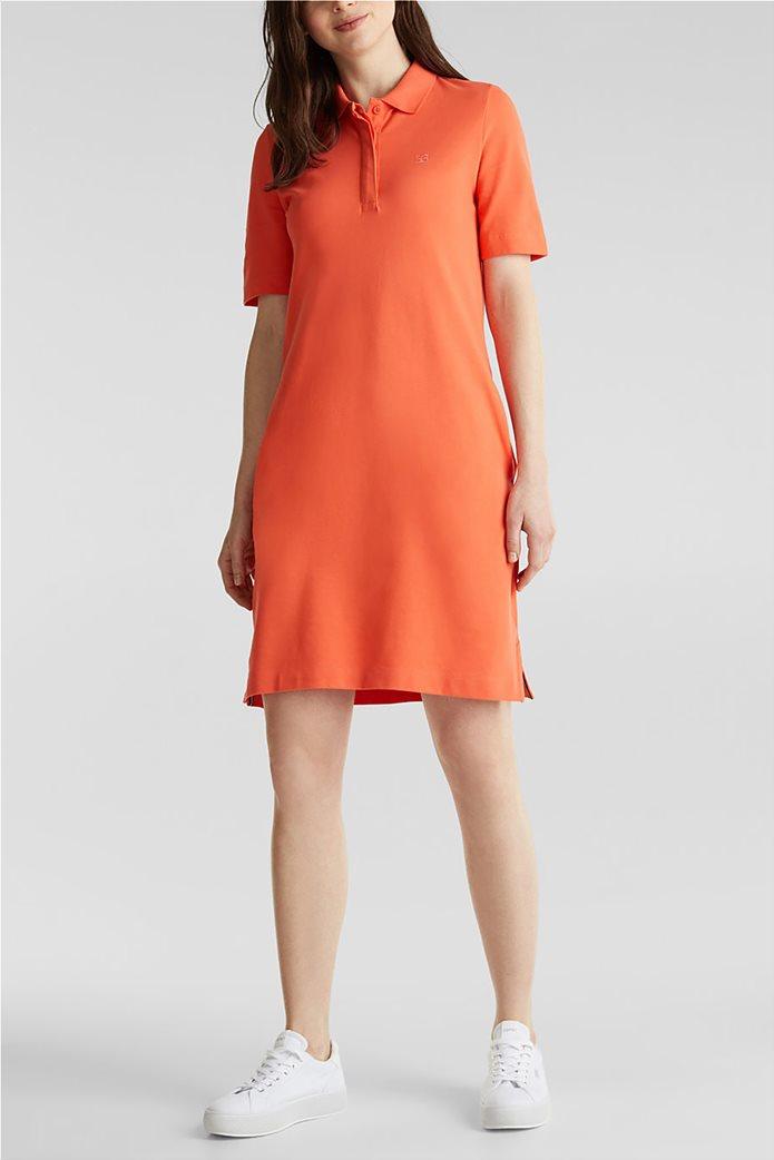 Esprit γυναικείo mini φόρεμα polo με κεντημένο logo 0