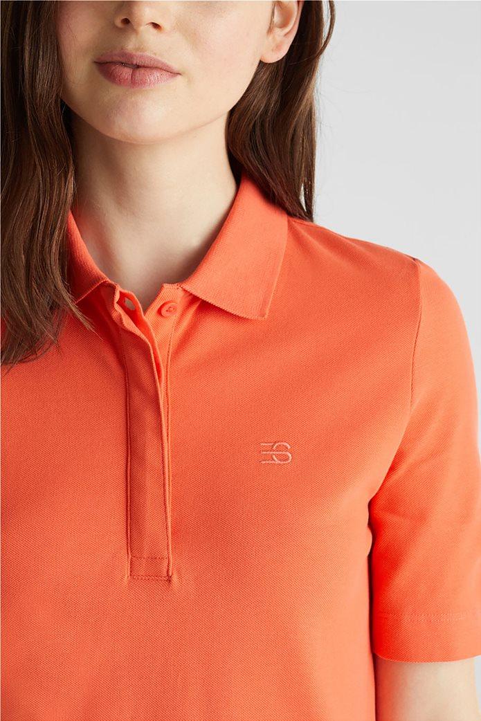 Esprit γυναικείo mini φόρεμα polo με κεντημένο logo 1
