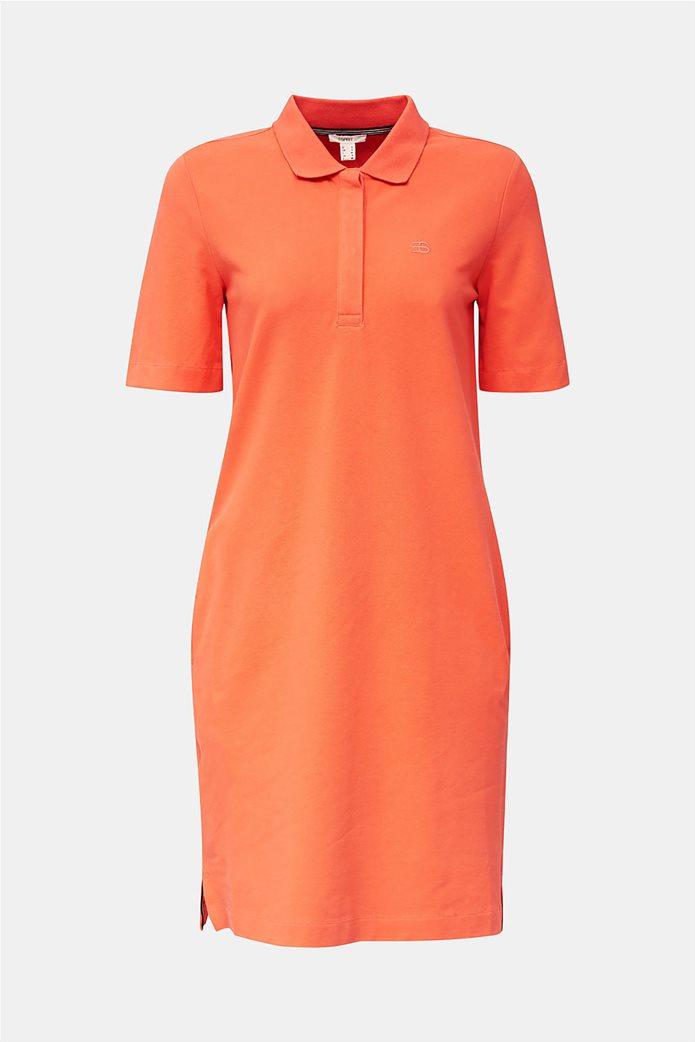 Esprit γυναικείo mini φόρεμα polo με κεντημένο logo 4