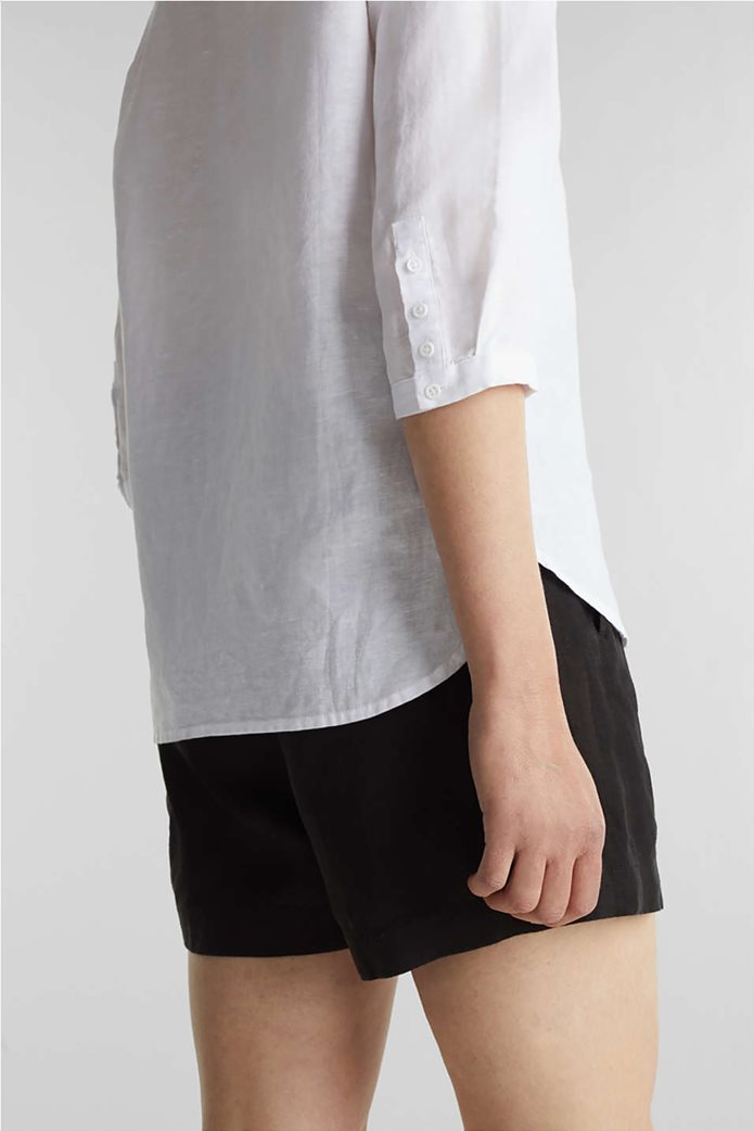 Esprit γυναικεία μπλούζα με V λαιμόκοψη και μανίκια 3/4 2