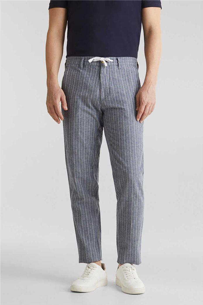Esprit ανδρικό ριγέ παντελόνι με τσέπες 0