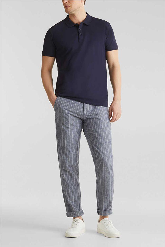 Esprit ανδρικό ριγέ παντελόνι με τσέπες 1