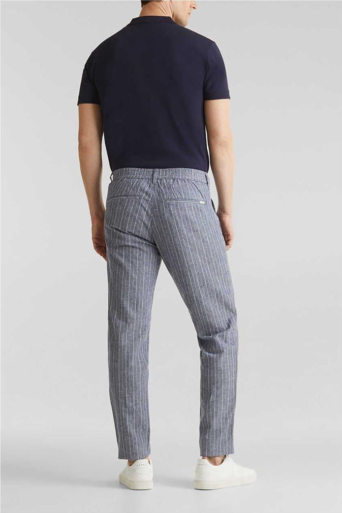 Esprit ανδρικό ριγέ παντελόνι με τσέπες 2