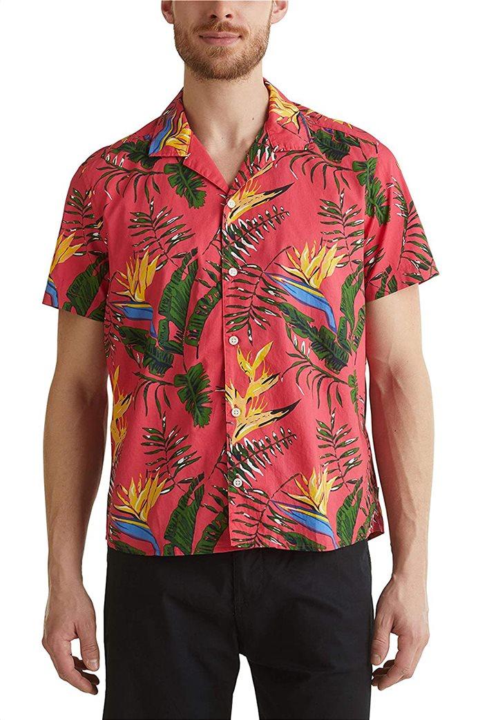 Esprit ανδρικό πουκάμισο με all-over tropical print 0