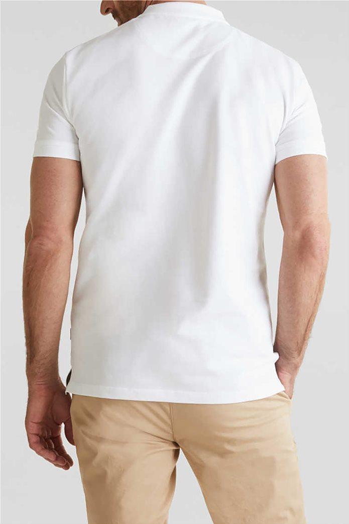 Esprit ανδρική μπλούζα πικέ polo με logo patch 2