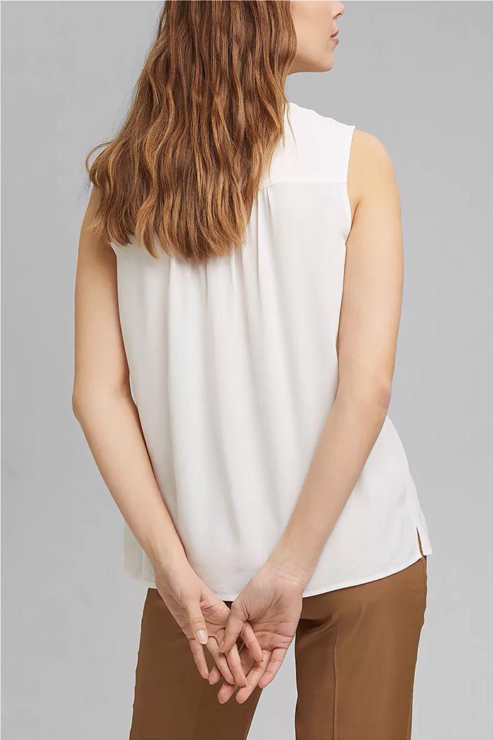 Esprit γυναικεία μπλούζα αμάνικη με δέσιμο στη λαιμόκοψη 3