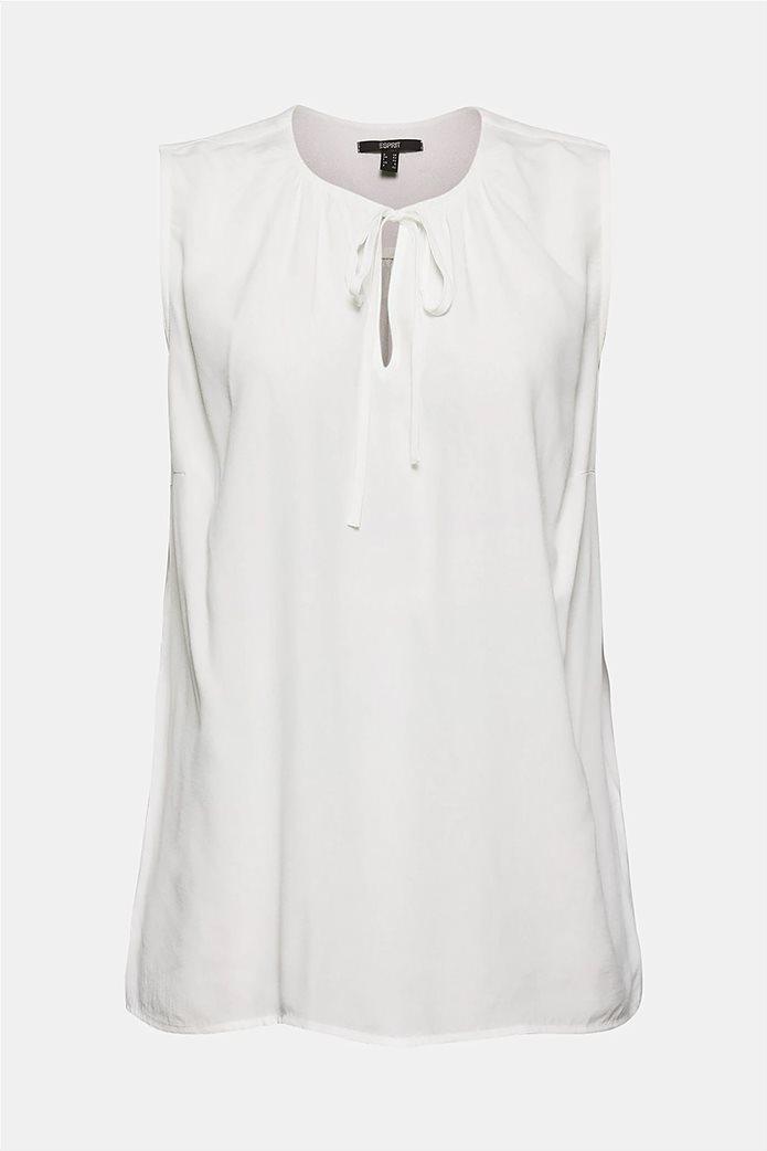 Esprit γυναικεία μπλούζα αμάνικη με δέσιμο στη λαιμόκοψη 5