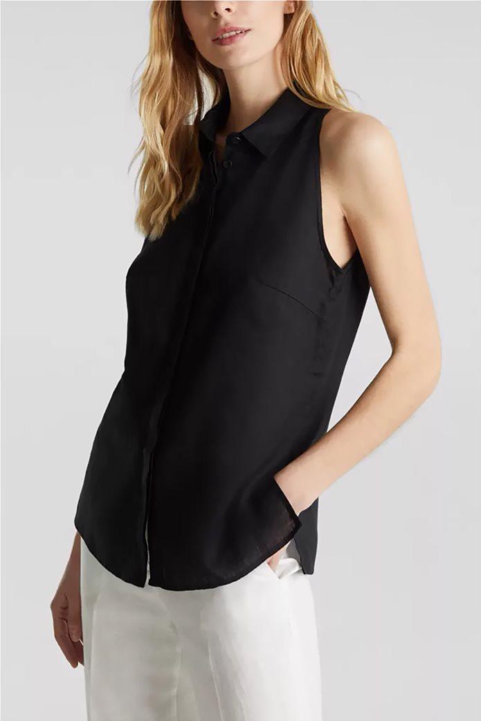 Esprit γυναικείο πουκάμισο λινό αμάνικο 0