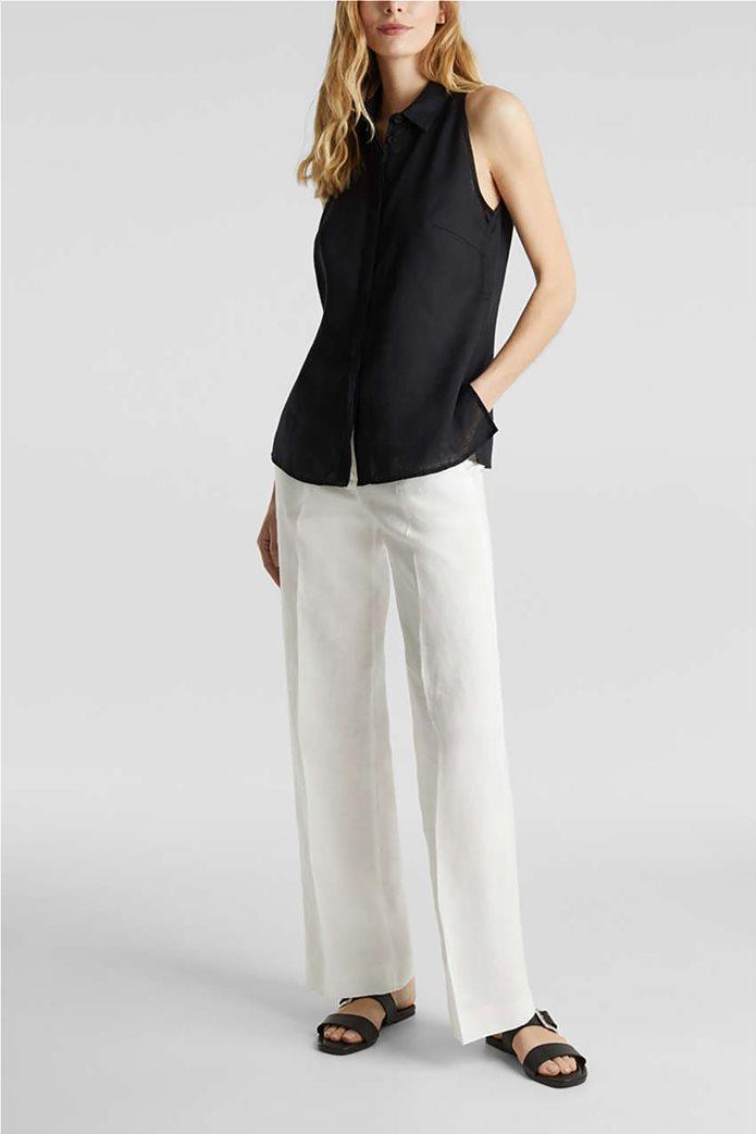 Esprit γυναικείο πουκάμισο λινό αμάνικο 1