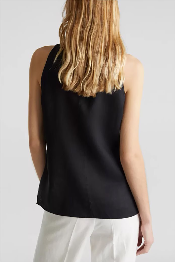 Esprit γυναικείο πουκάμισο λινό αμάνικο 2
