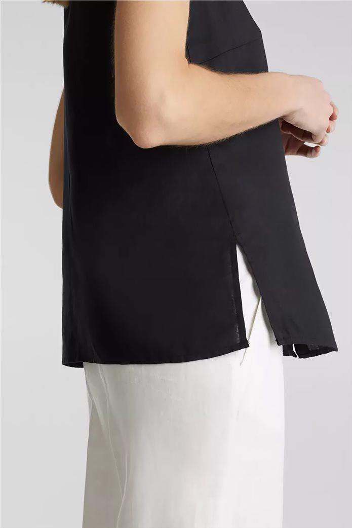 Esprit γυναικείο πουκάμισο λινό αμάνικο 4