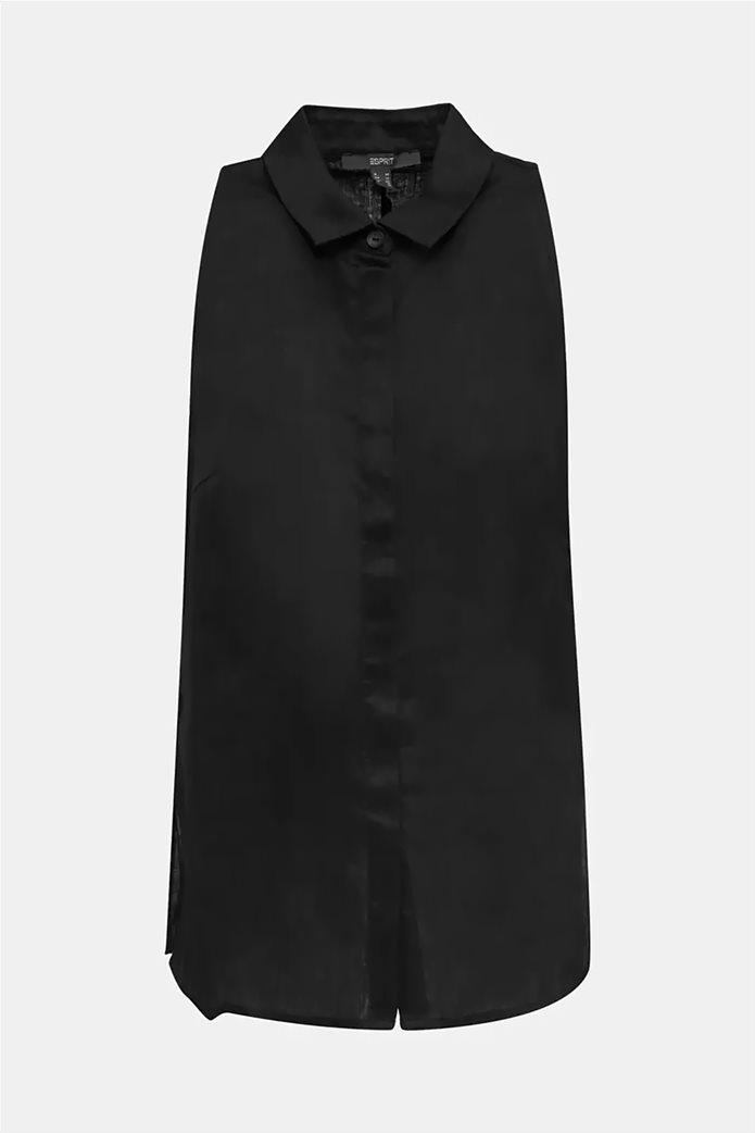 Esprit γυναικείο πουκάμισο λινό αμάνικο 5