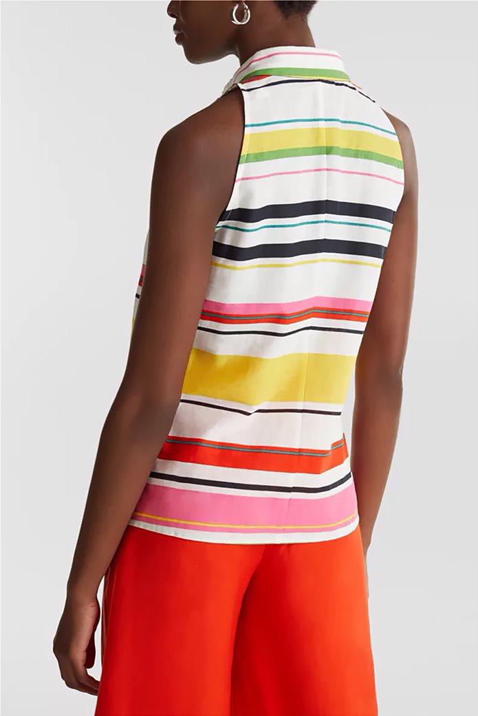 Esprit γυναικείο ριγέ πουκάμισο αμάνικο 2