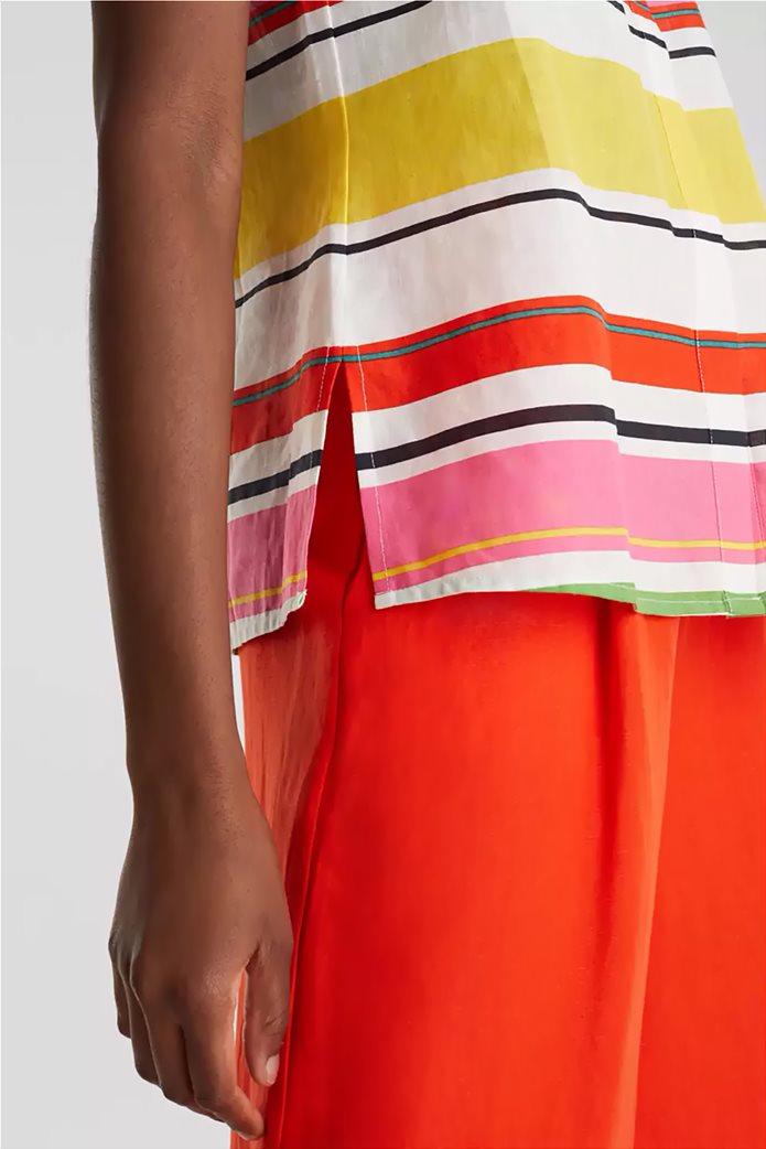 Esprit γυναικείο ριγέ πουκάμισο αμάνικο 3
