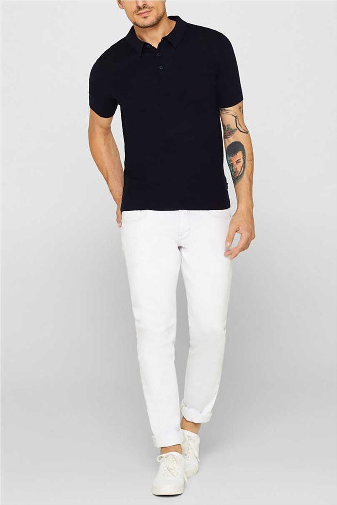 Esprit ανδρική πλεκτή πόλο μπλούζα κοντομάνικη 3