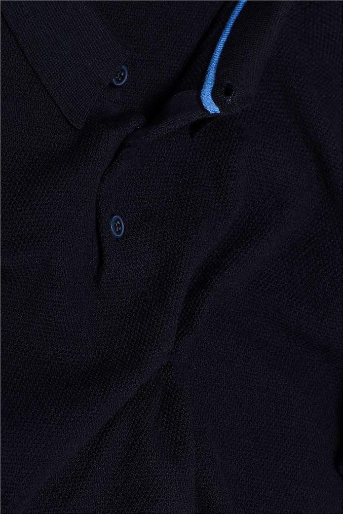Esprit ανδρική πλεκτή πόλο μπλούζα κοντομάνικη 4