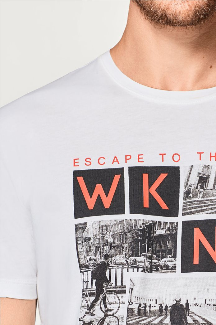 Esprit ανδρικό T-shirt με στάμπα Weekend Escape 1