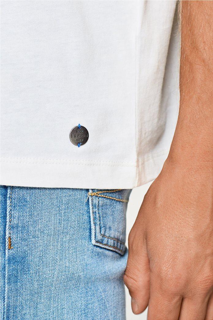 Esprit ανδρικό T-shirt με στάμπα βελουτέ 1