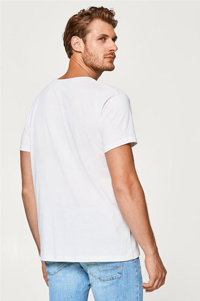 Esprit ανδρικό T-shirt με στάμπα βελουτέ 3