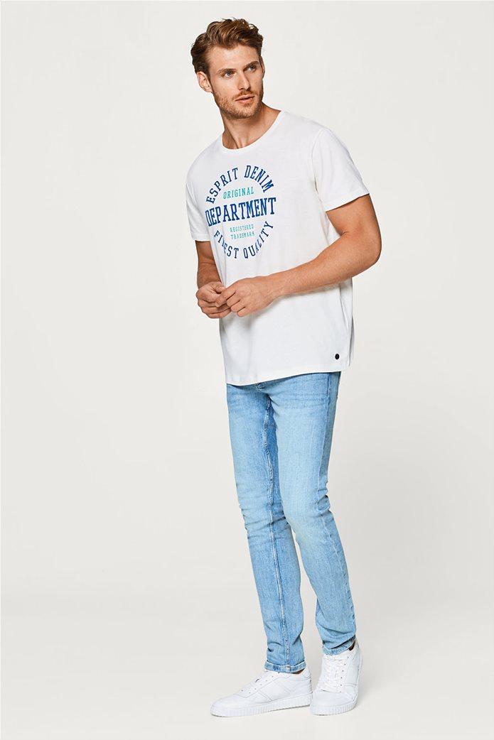 Esprit ανδρικό T-shirt με στάμπα βελουτέ 4