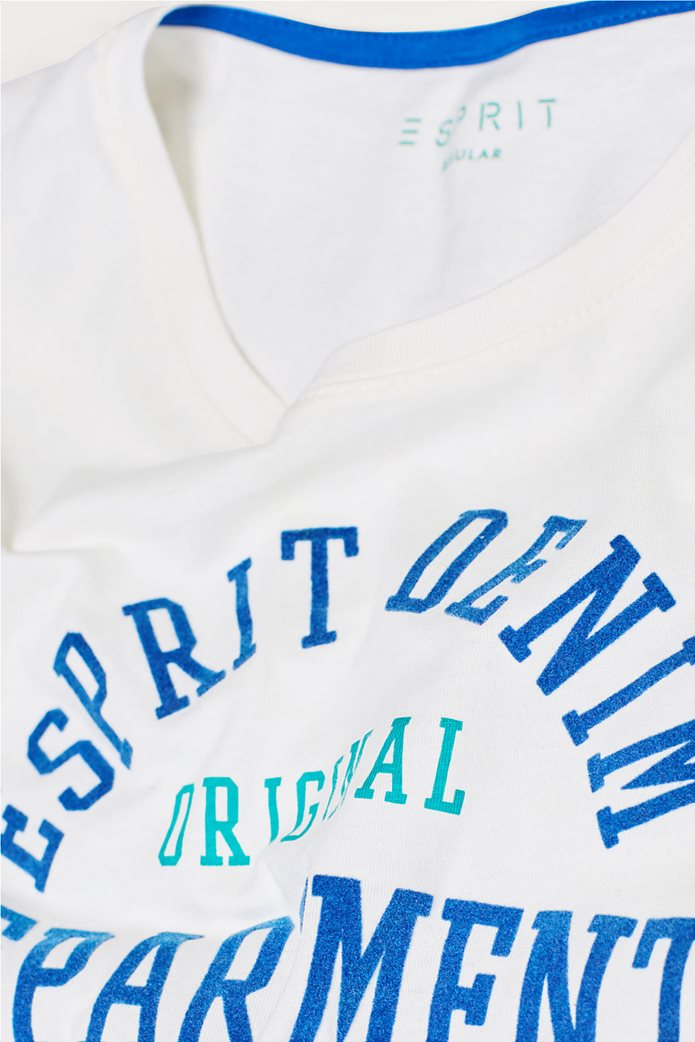 Esprit ανδρικό T-shirt με στάμπα βελουτέ 5