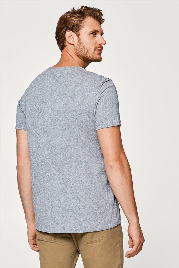 Esprit γκρι ανδρικό T-shirt με στάμπα Friday 3