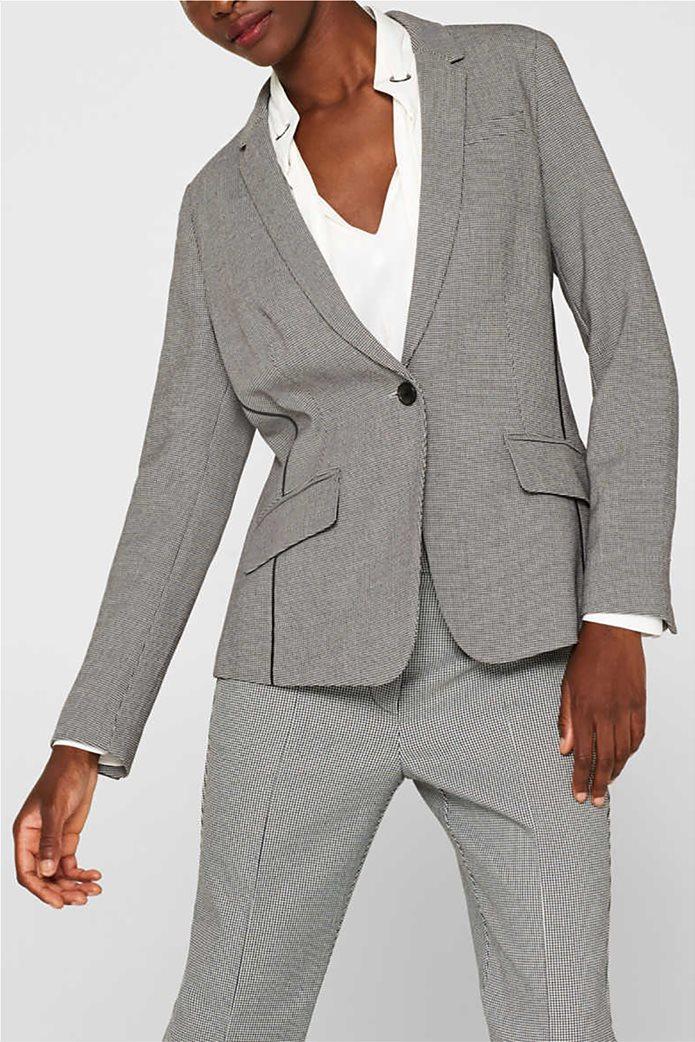 Esprit γυναικείο σακάκι με pied de poule print 0