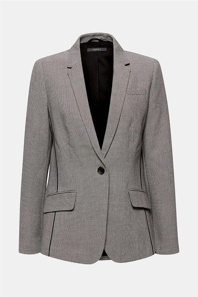 Esprit γυναικείο σακάκι με pied de poule print 5