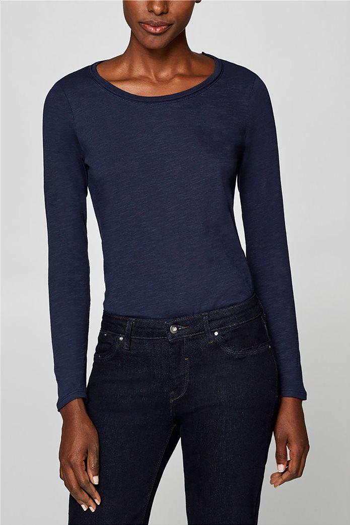 Esprit γυναικεία basic μπλούζα με μακρύ μανίκι 0