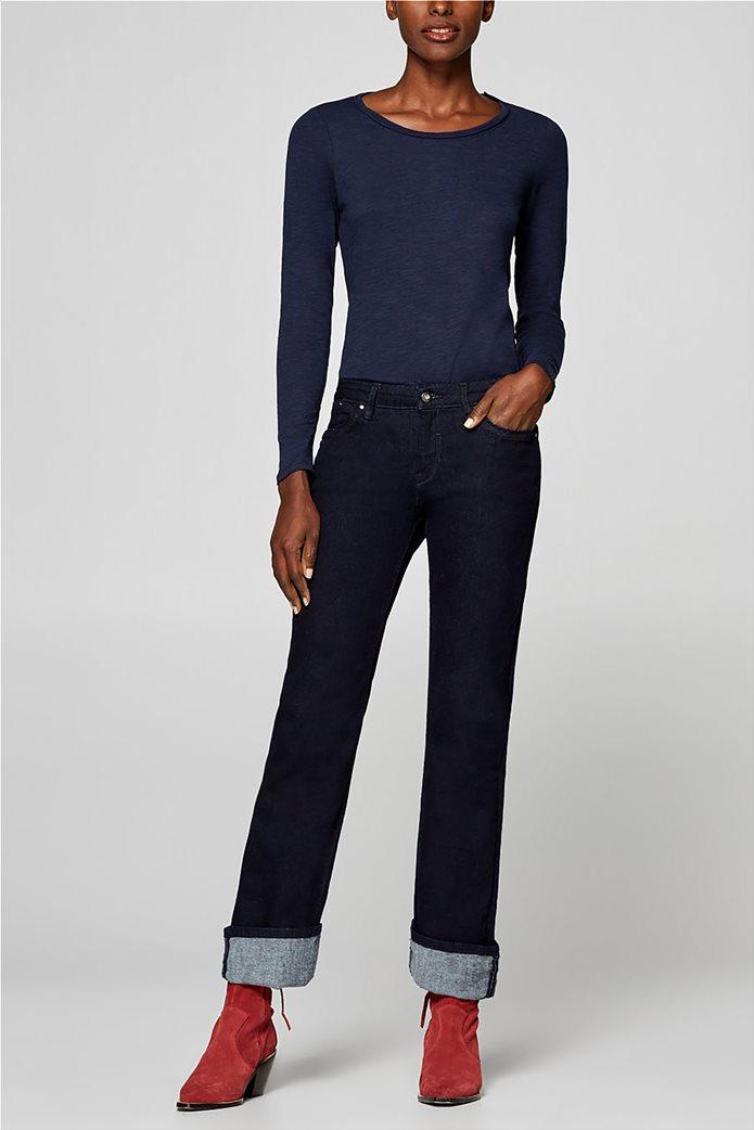 Esprit γυναικεία basic μπλούζα με μακρύ μανίκι 1