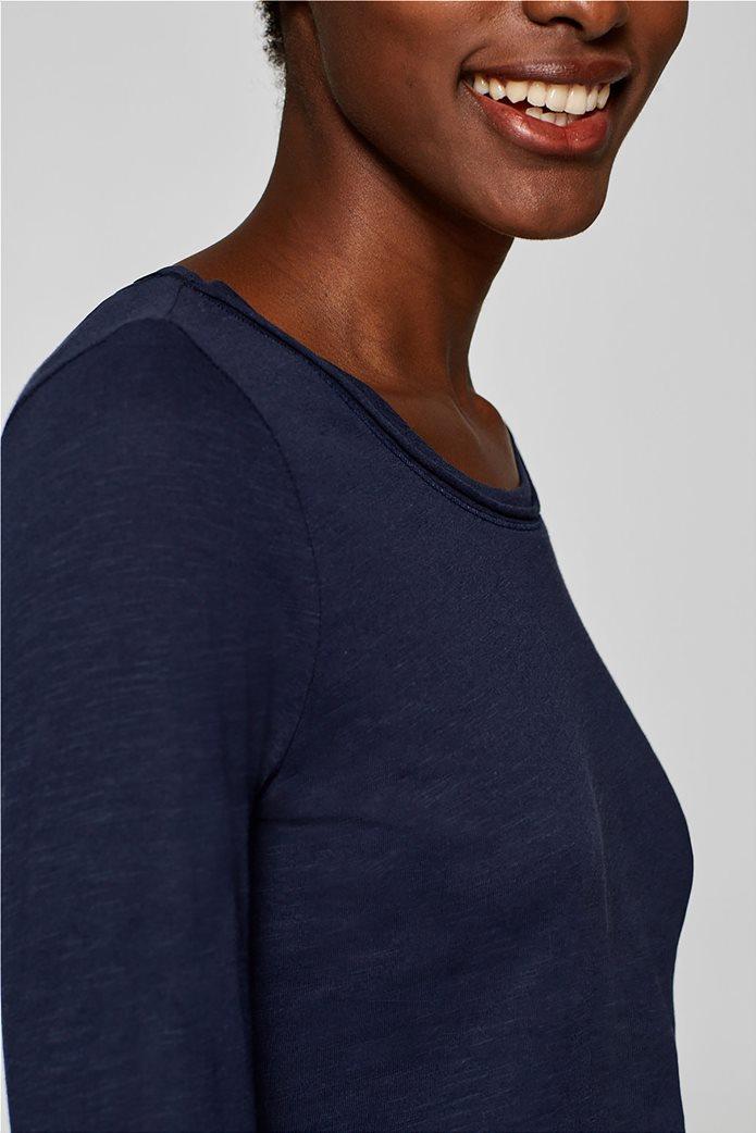 Esprit γυναικεία basic μπλούζα με μακρύ μανίκι 2