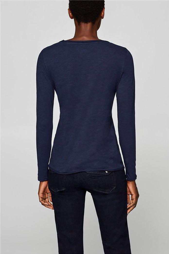 Esprit γυναικεία basic μπλούζα με μακρύ μανίκι 3