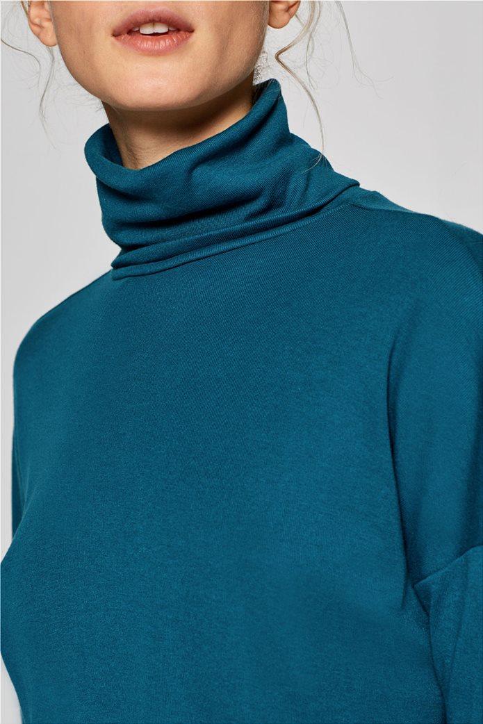 Esprit γυναικεία μπλούζα μονόχρωμη ζιβάγκο Α line 2