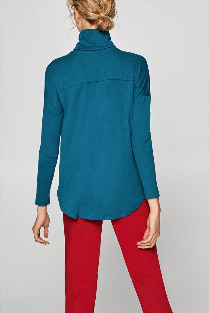 Esprit γυναικεία μπλούζα μονόχρωμη ζιβάγκο Α line 3